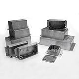 G106MF - SEALED DIE-CAST ALUMINIUM ENCLOSURES WITH FLANGE IN THE BASE - Gainta Industries Ltd.