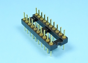 2.54mm Machined Pin Header IC Socket (0.3 inch Wide)