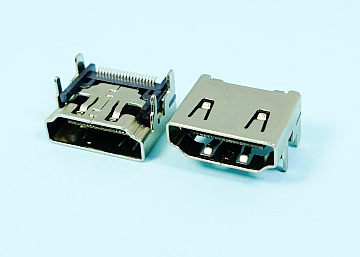HDMI A Type 19Pin Female  SMT  SHELL DIP