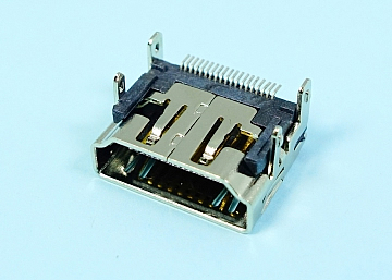 HDMI A Type 19Pin Female  SMT  SHELL DIP (L=9.10)