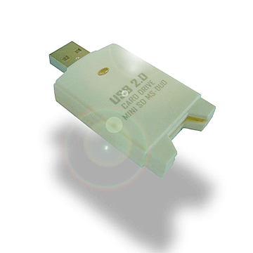 USB 2.0  MINI-SD/MS Duo/MS Pro Duo  Card  Drive - HOMESHUN INTERNATIONAL CO., LTD.